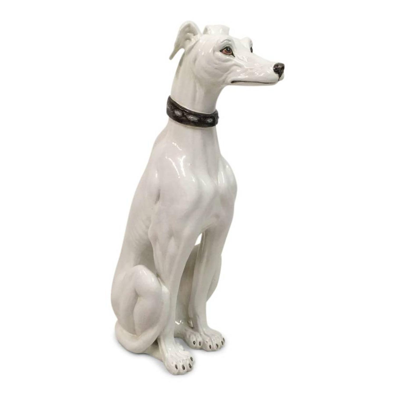 1970s Italian ceramic greyhound or whippet
