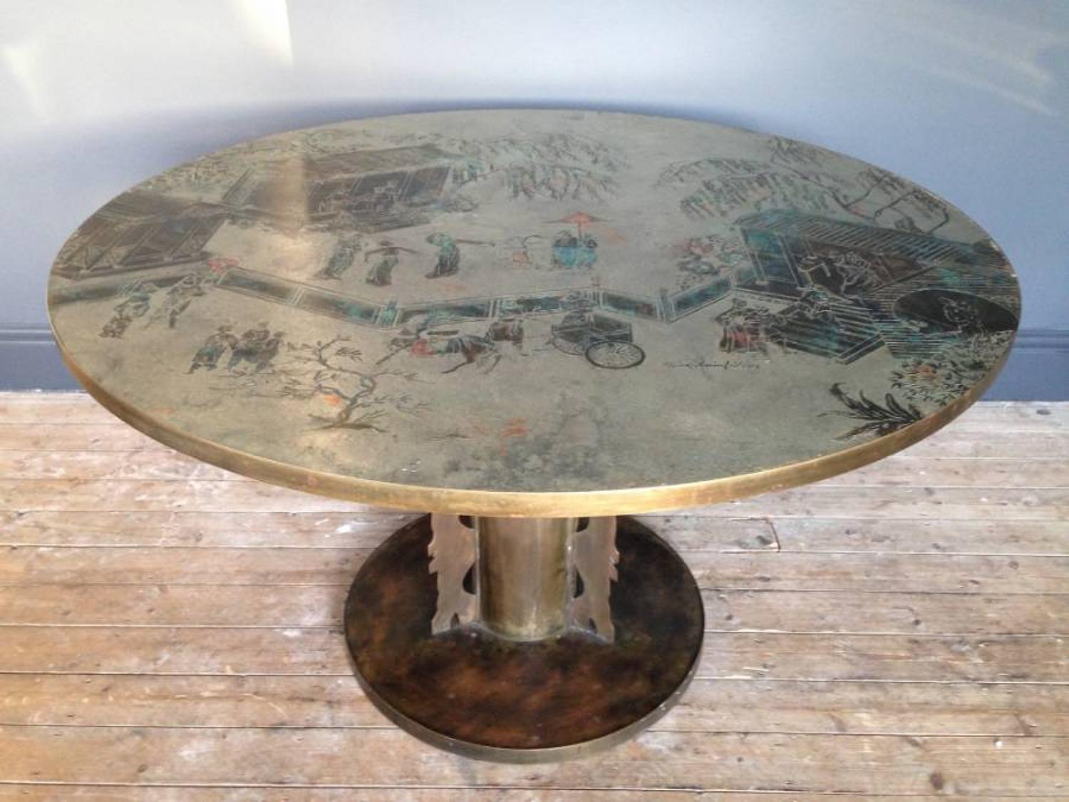 Dining or game table by Philip and Kelvin Laverne