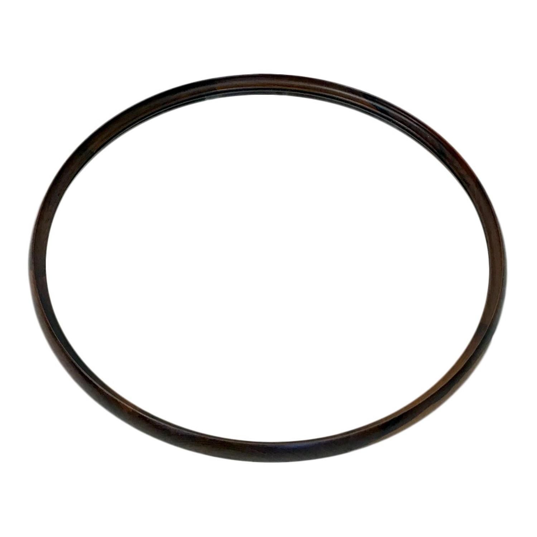 1960s circular Danish rosewood mirror