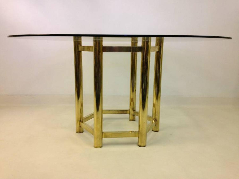 Italian brass dining table