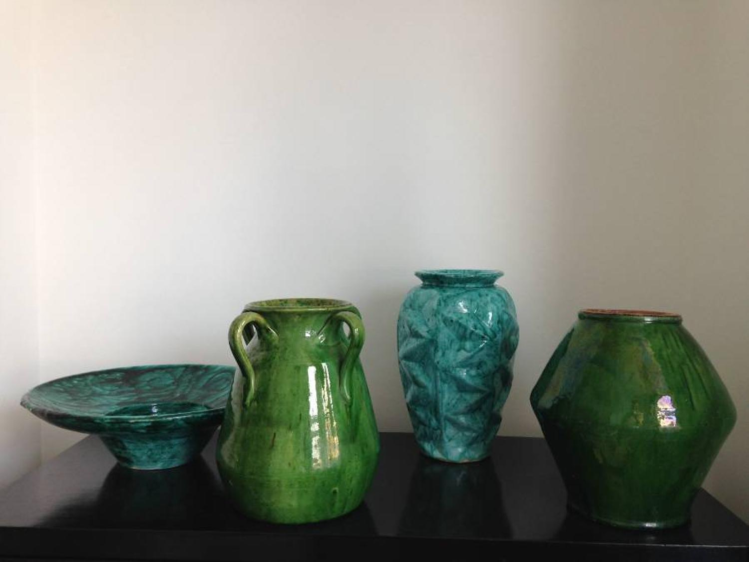 A selection of ceramic vases