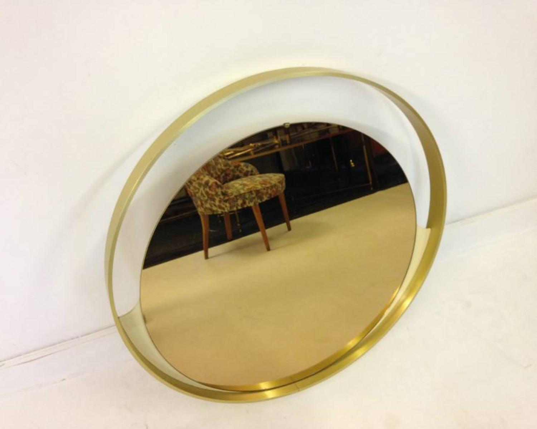 Italian brass framed mirror