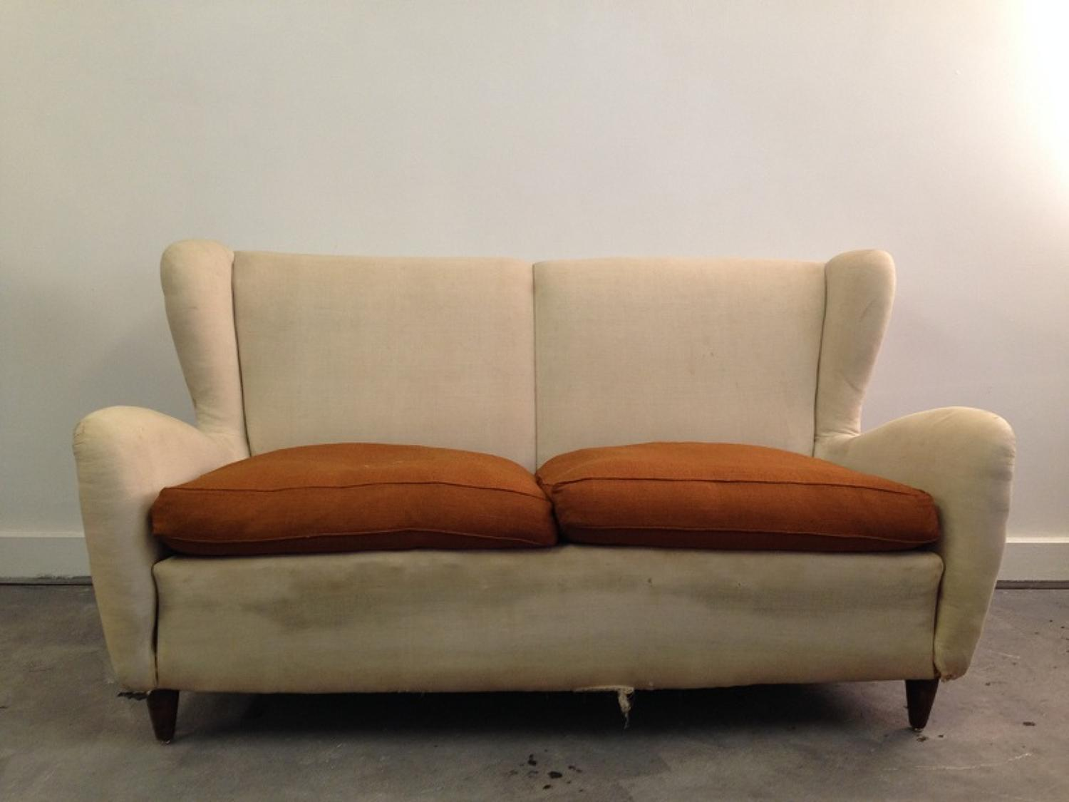 1950s Italian winged sofa
