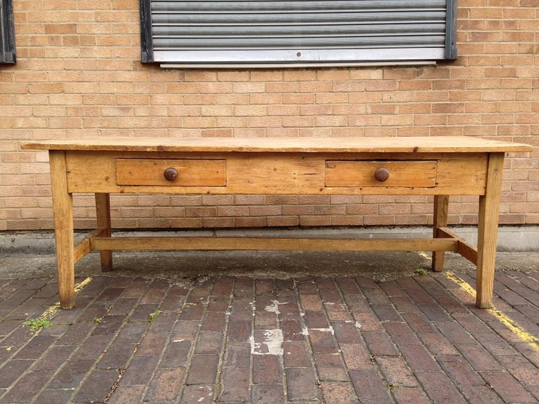 Antique pine and oak farmhouse table