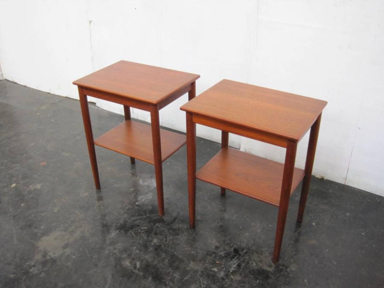 A pair of Danish teak side tables