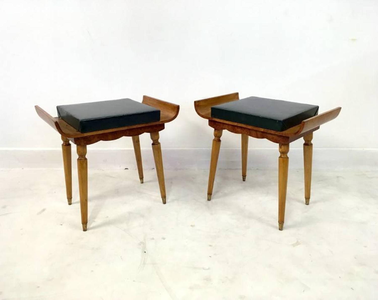 A pair of 1950s Italian stools