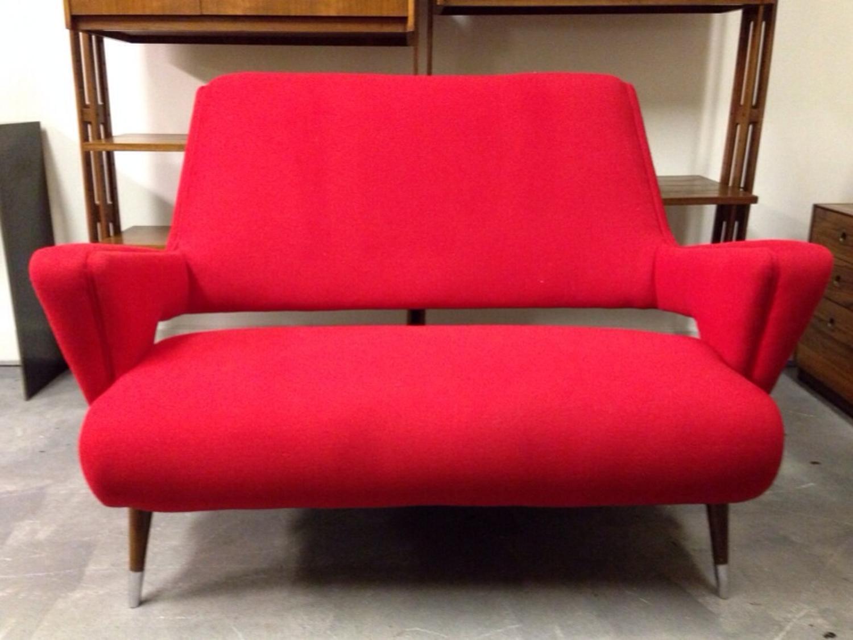 Unusual shaped 1950s sofa