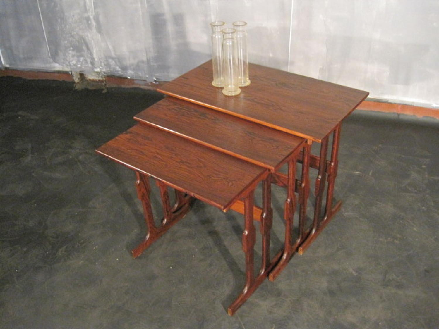 Danish rosewood nest of tables