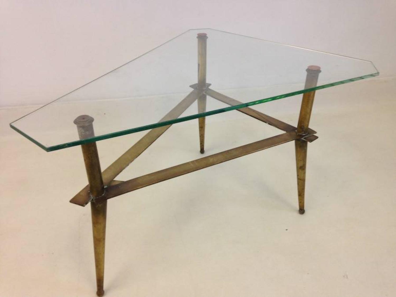 1950s Italian brass coffee table