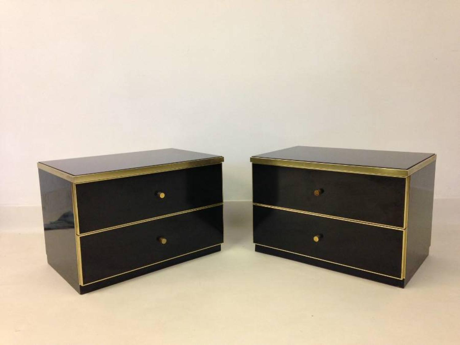 A pair of Italian bedside drawers