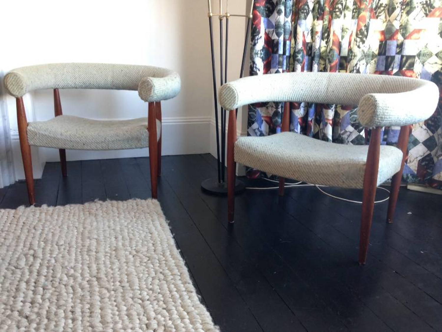 A pair of sausage or ring chairs by Nanna Ditzel