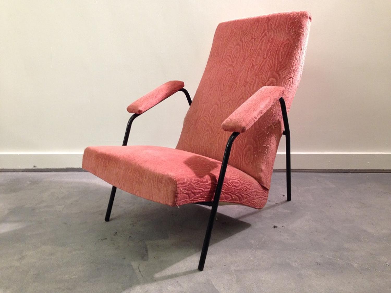 Italian 1950s angular armchair