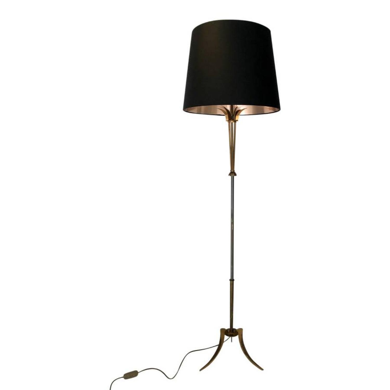 French brass floor lamp by Maison Jansen