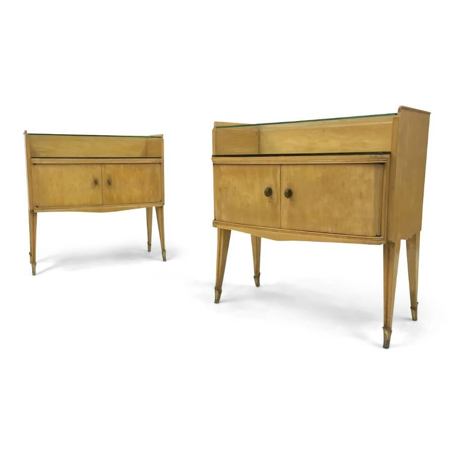 A pair of 1950s Italian bedside tables