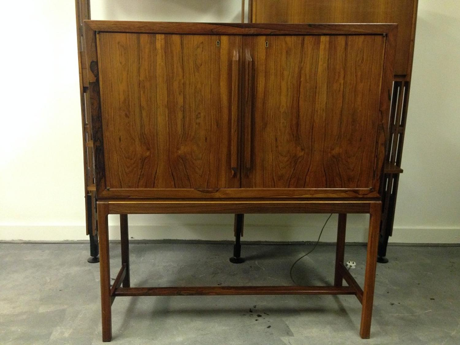 Danish rosewood cocktail cabinet
