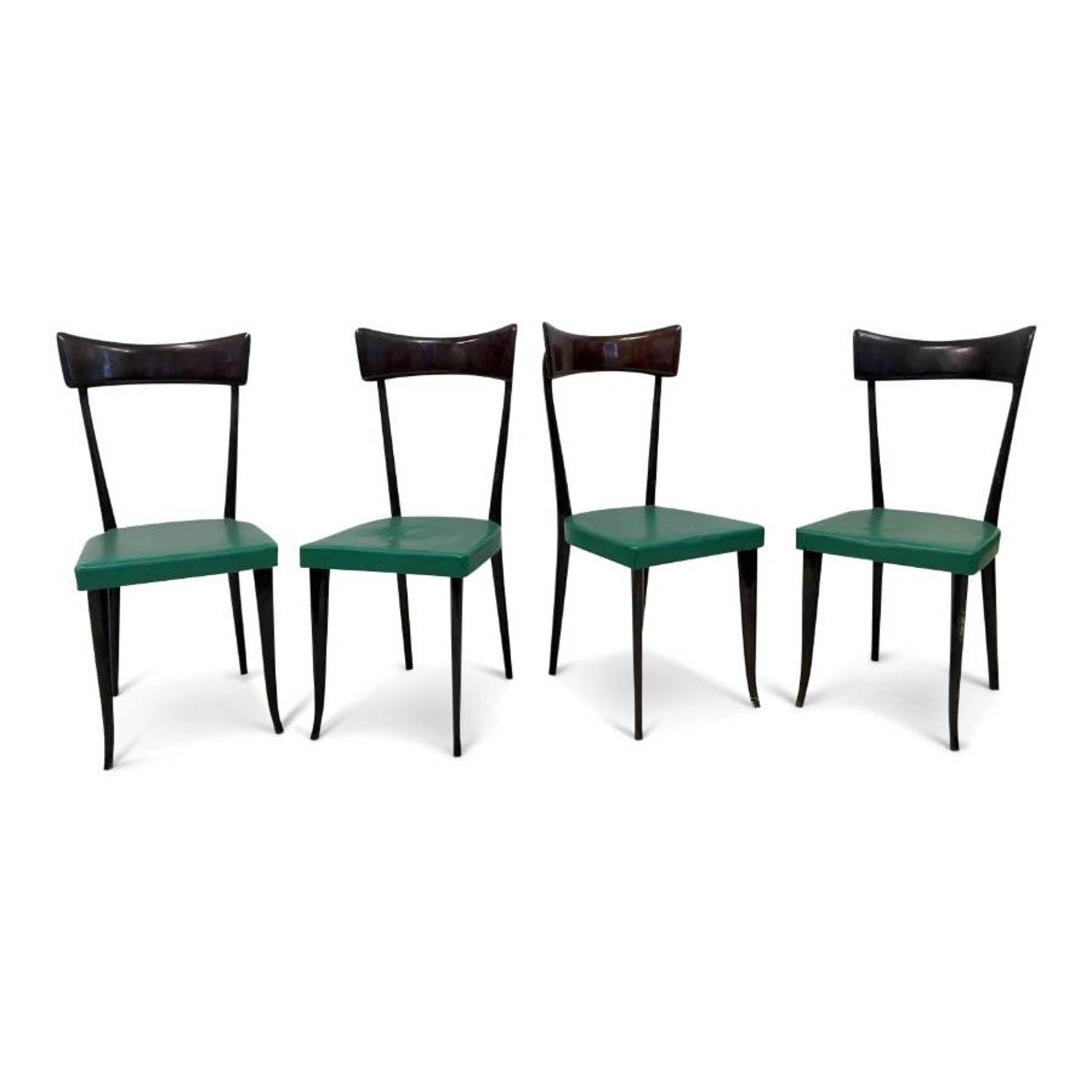 A set of four Ico Parisi style dining chairs