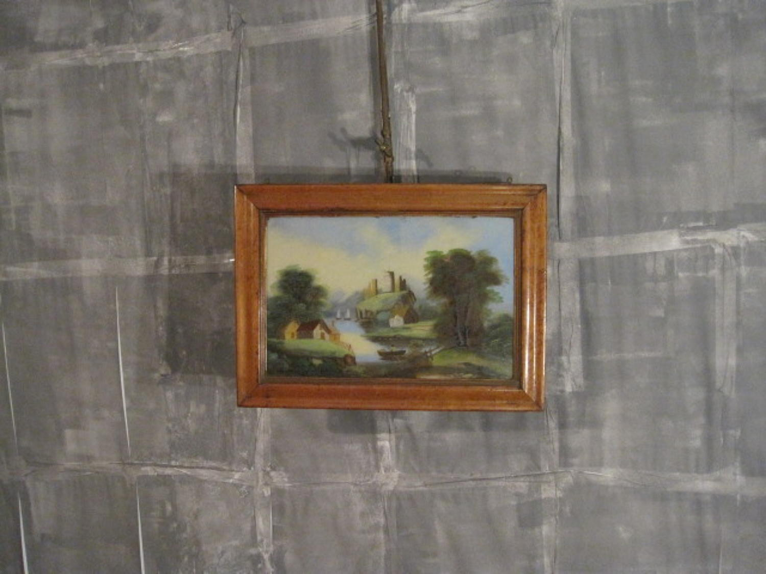 English naive painting on glass