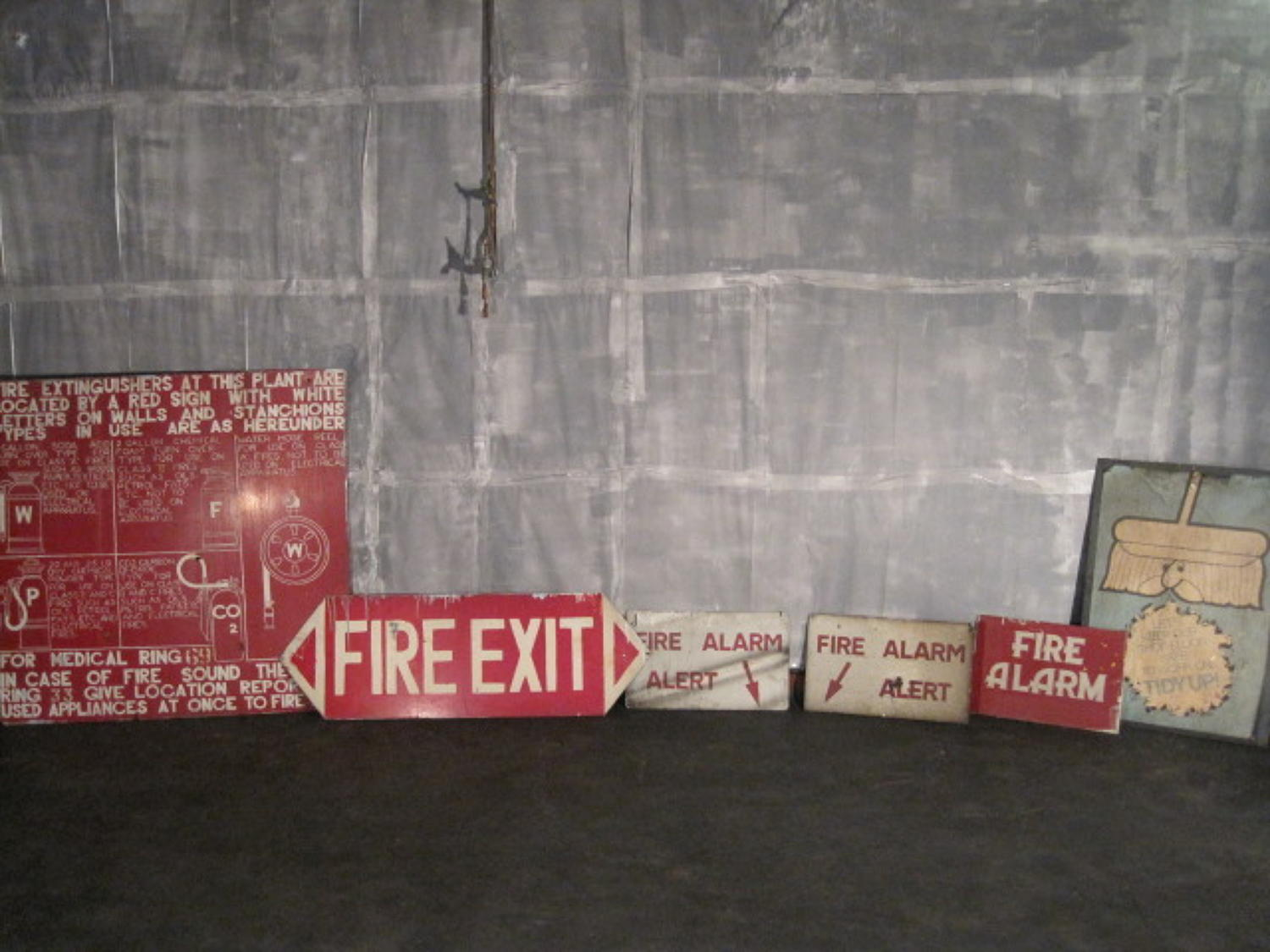 Vintage factory signs