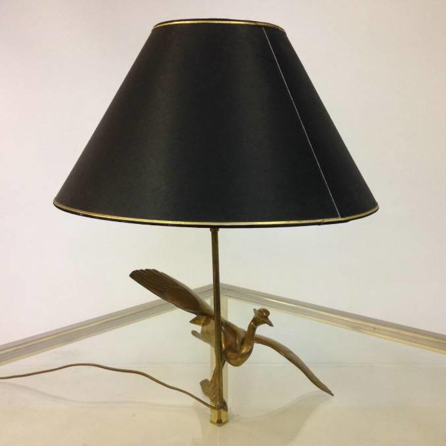 Brass bird lamp