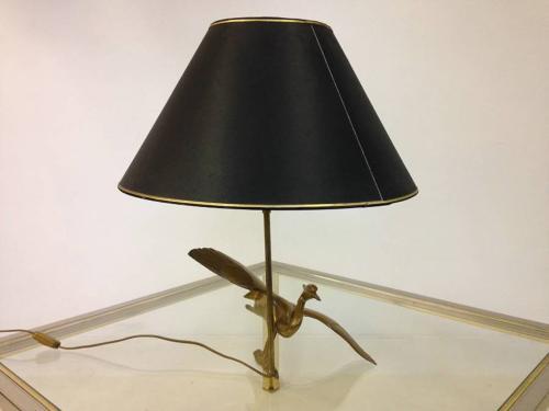 Brass bird lamp