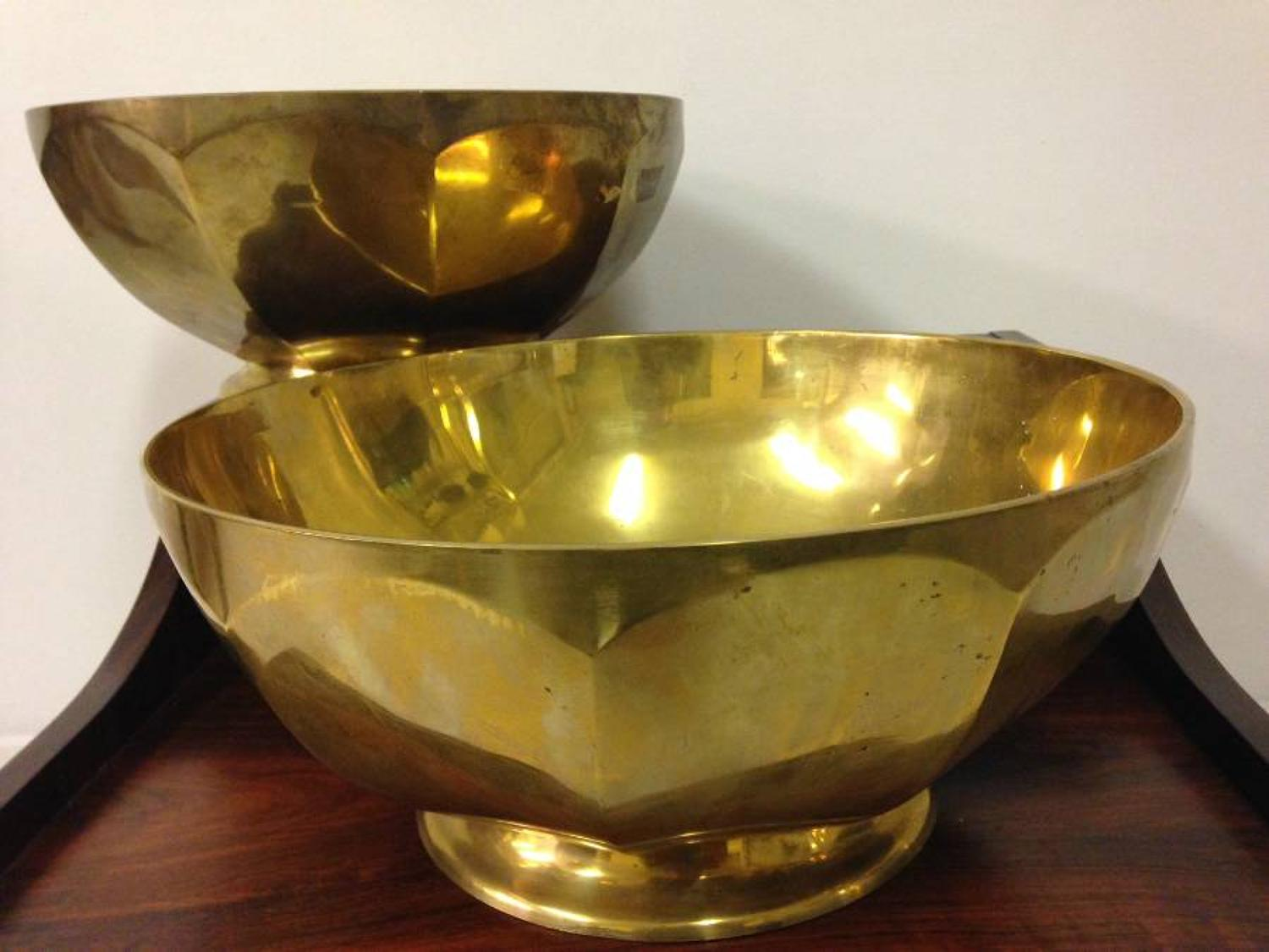 1970s French brass bowls