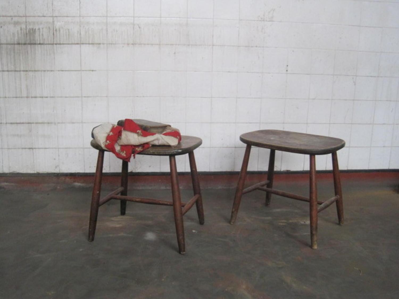 A pair of Swedish stools