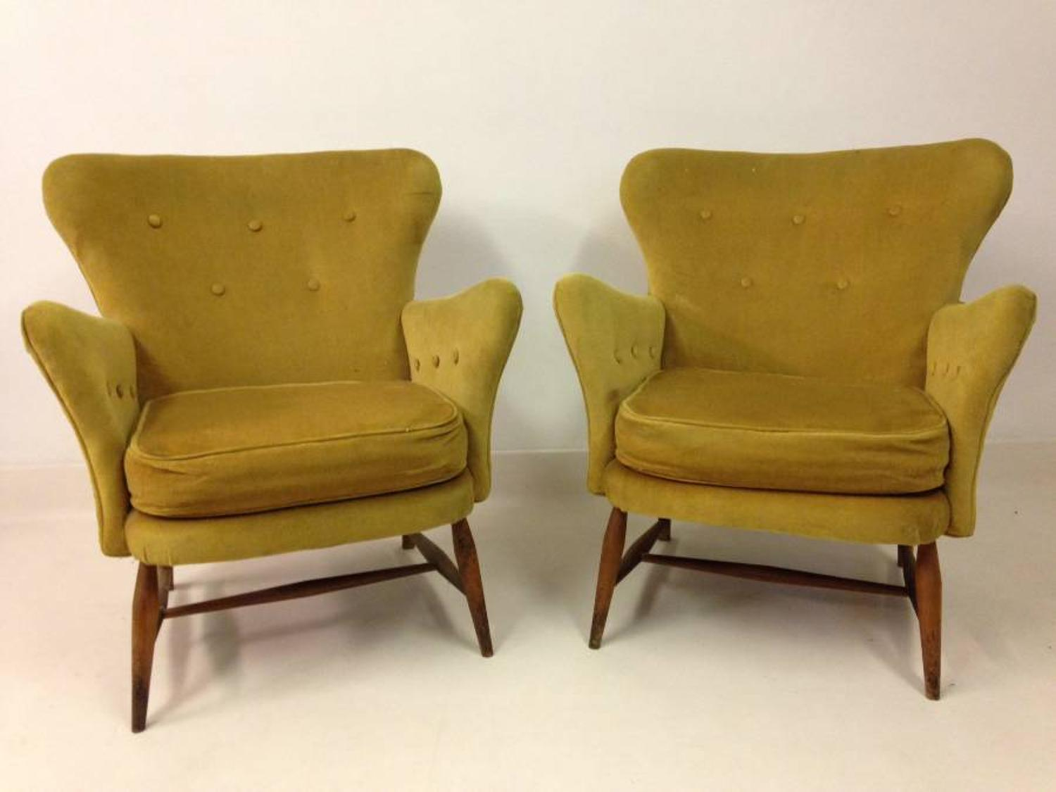 A pair of rare armchairs by Ercol