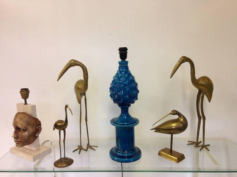 A flock of brass birds