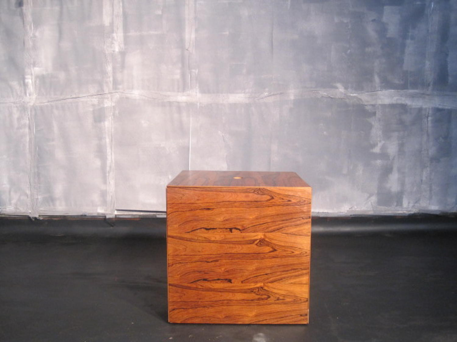 Cube of rosewood nesting tables by Poul Norreklit