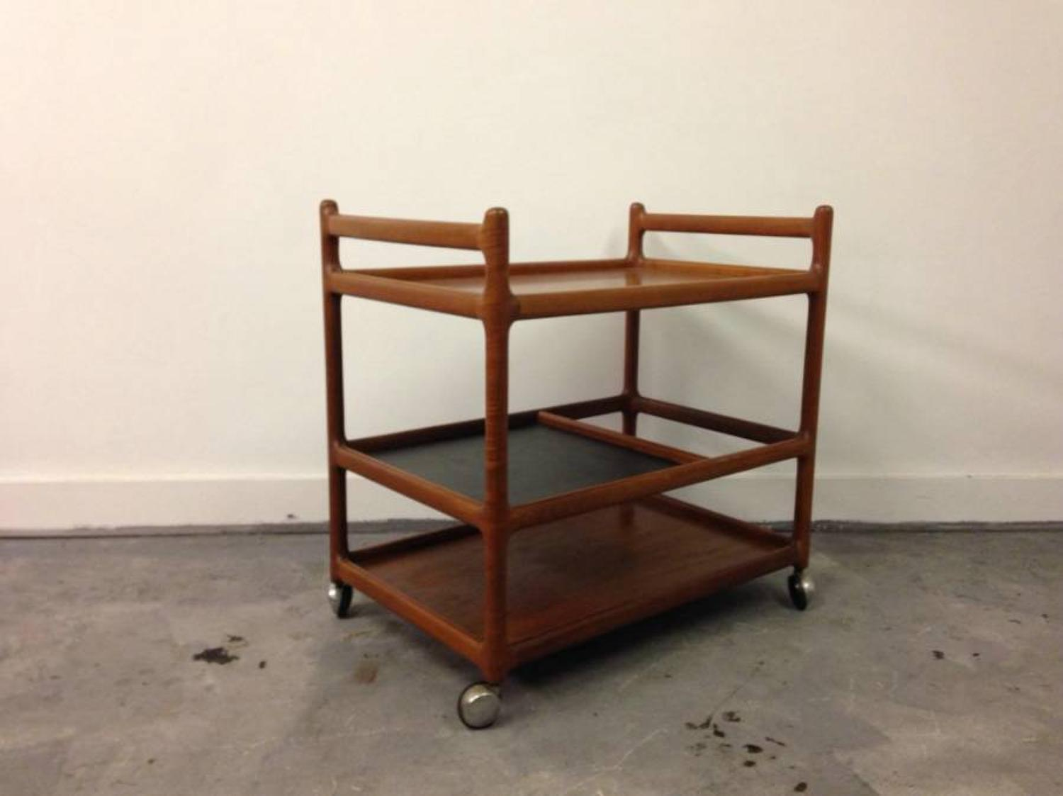 Danish tea trolley by Johannes Andersen
