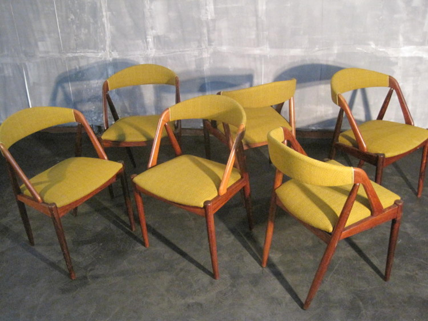 Rosewood dining chairs by Kai Kristiansen