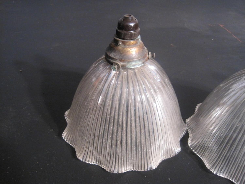 Vintage reeded glass lights
