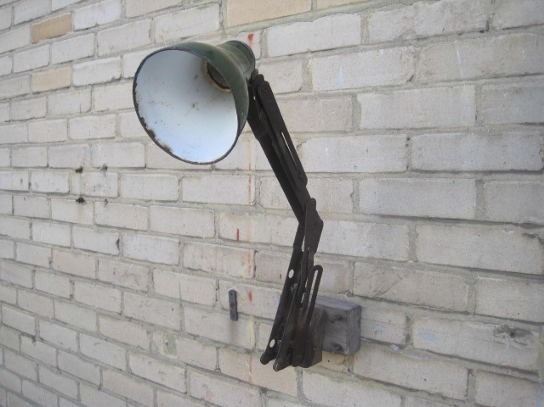 Vintage machinists industrial lamp