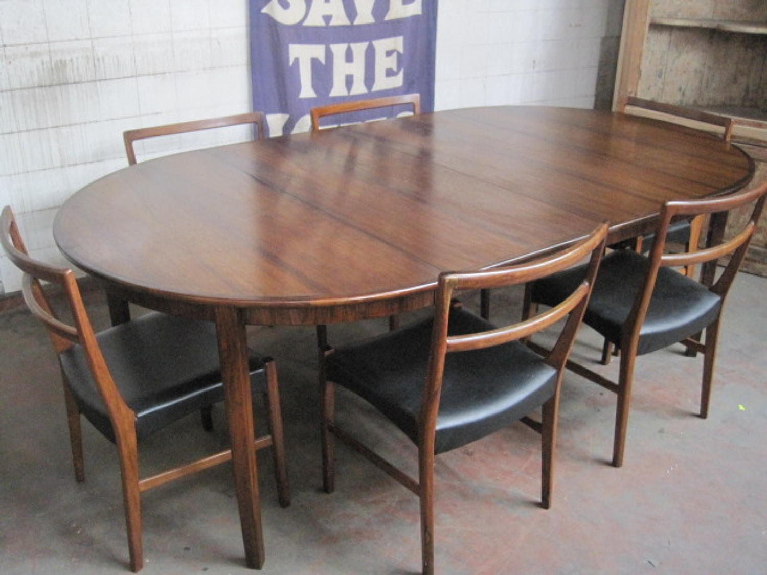 Danish rosewood dining set by Bernhard Pedersen