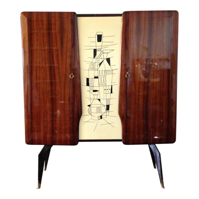 1950s Italian rosewood cabinet
