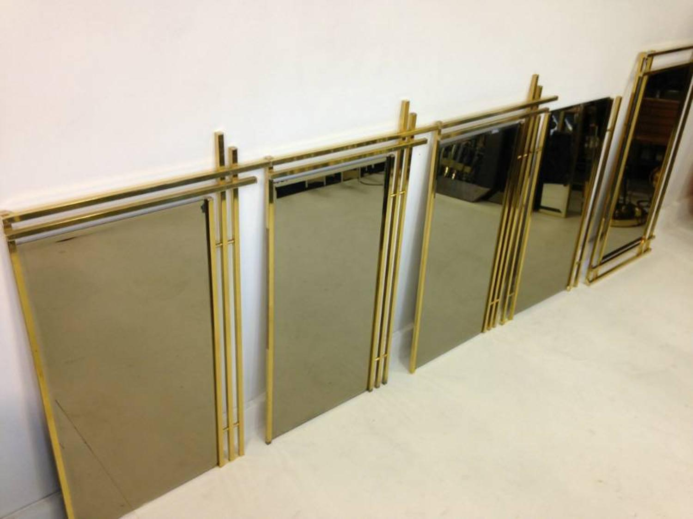 A set of  1970s Italian brass mirrors