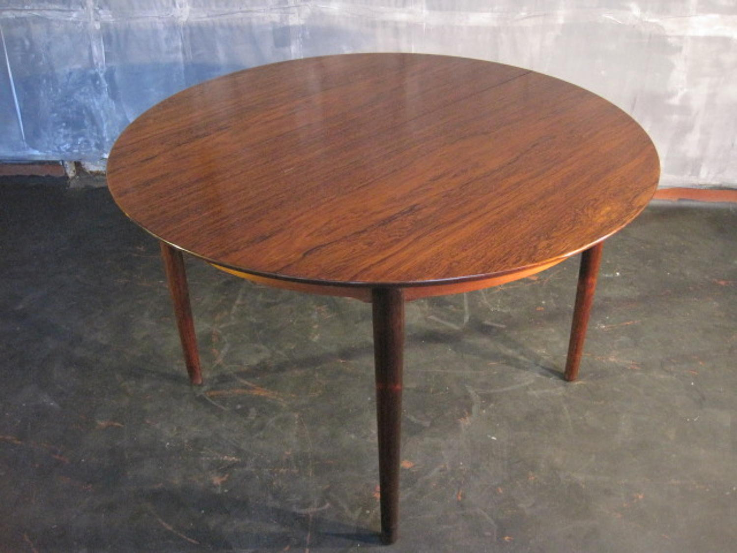 Danish rosewood dining table by Helge Sibast
