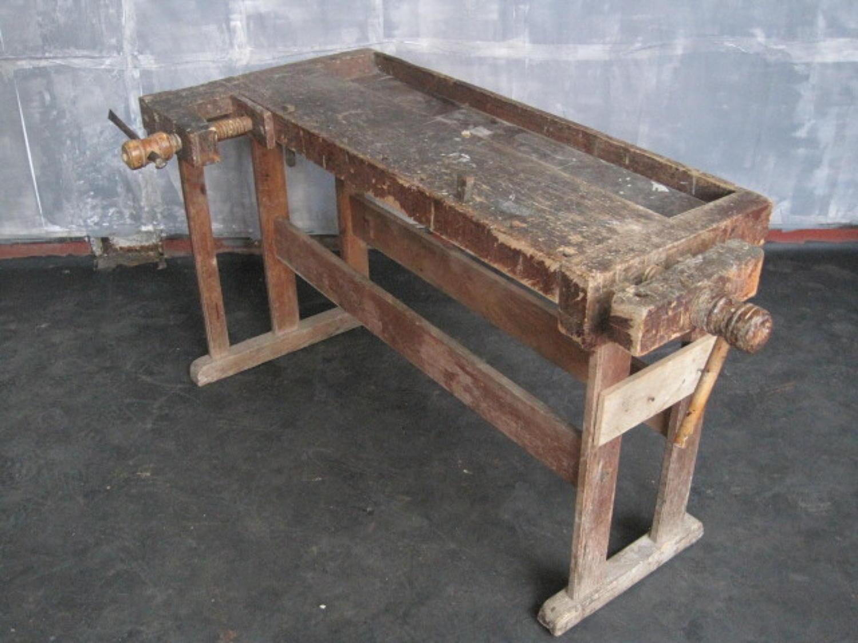 Vintage pine workbench