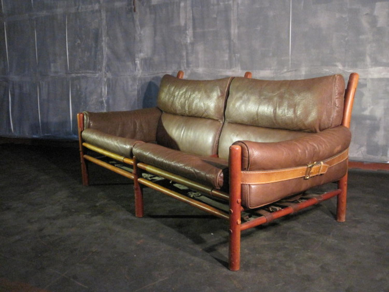 Buffalo leather Inca sofa by Arne Norell