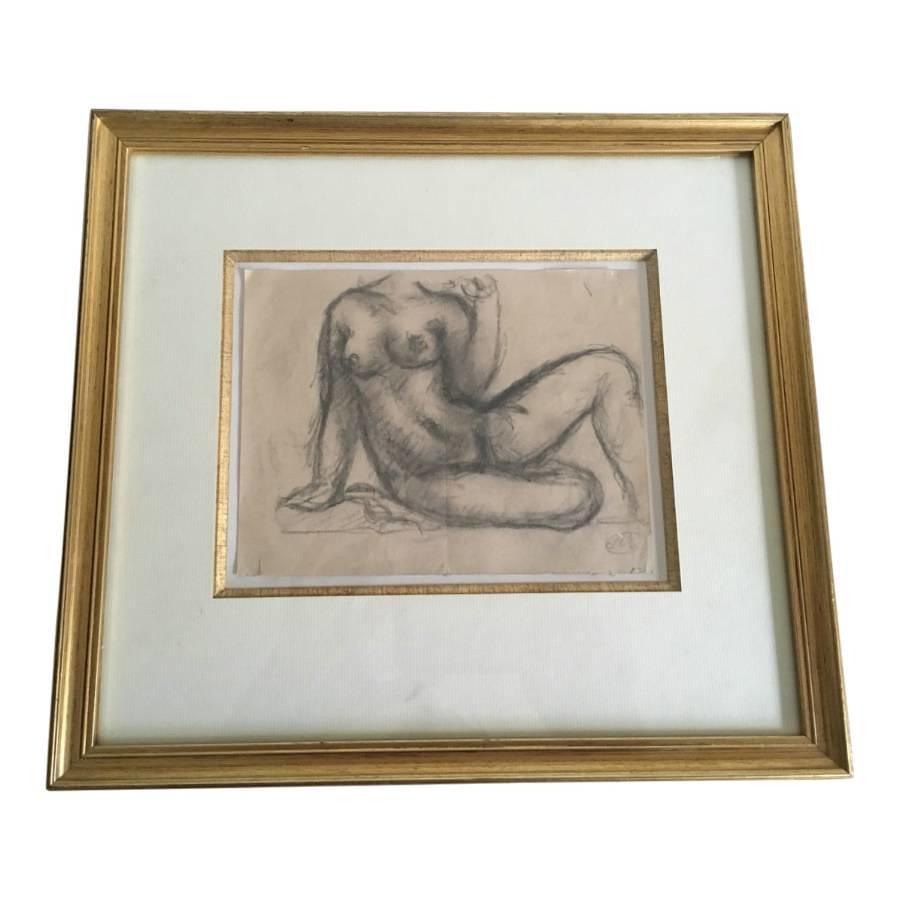 Pencil sketch by Aristide Maillol