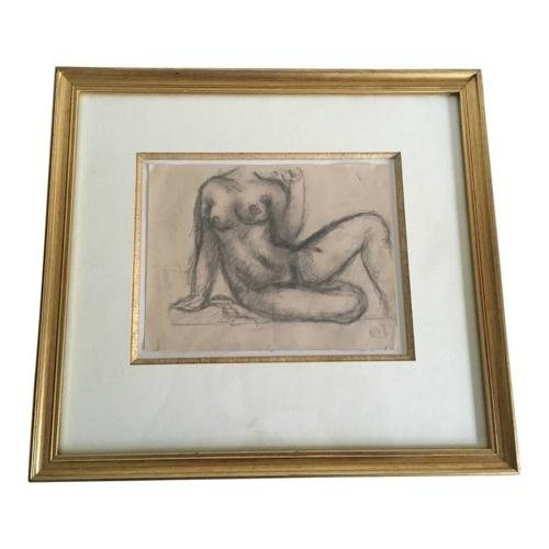 Pencil sketch by Aristide Maillol