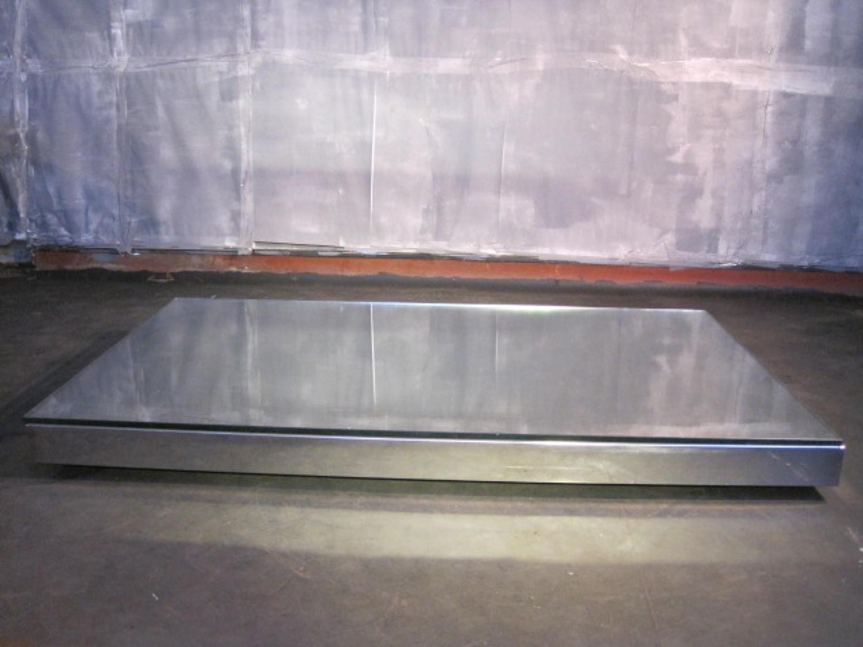 Low chrome coffee table by Rivolta