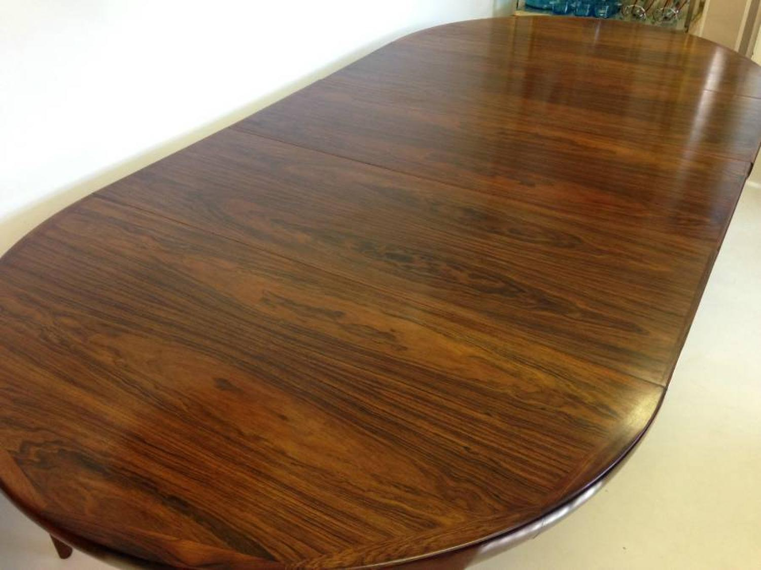Extra large Danish rosewood dining table