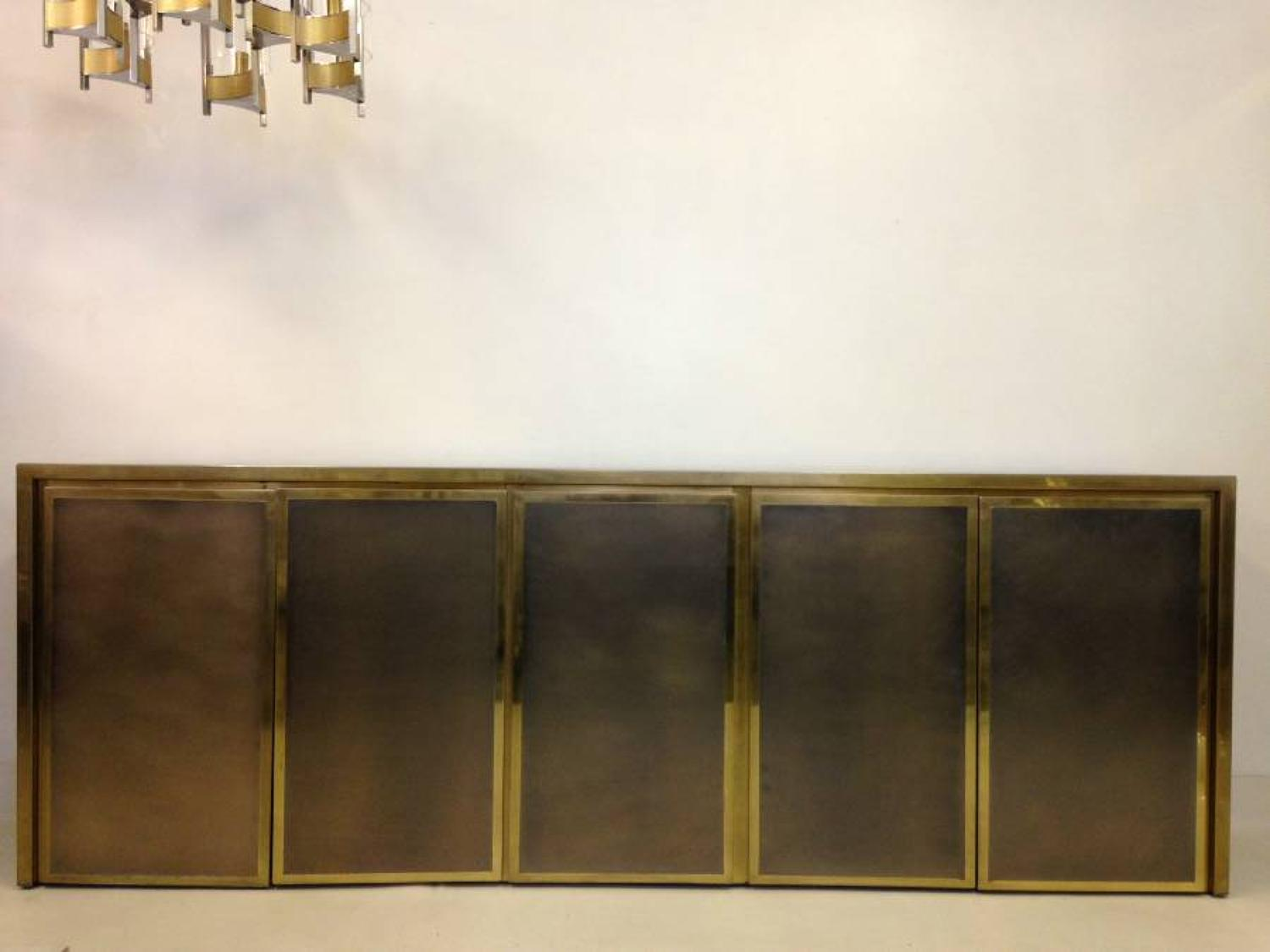 Bronze patinated and gilt metal sideboard