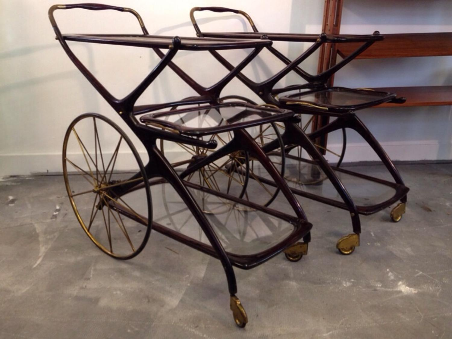 A pair of tea carts by Cesare Lacca