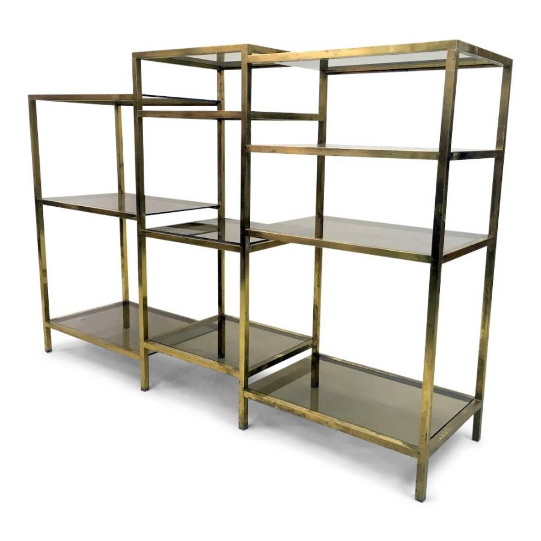 1970s Italian brass etagere or shelves