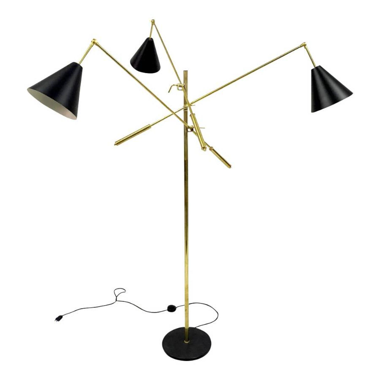 1950s style Italian triennale floor lamp