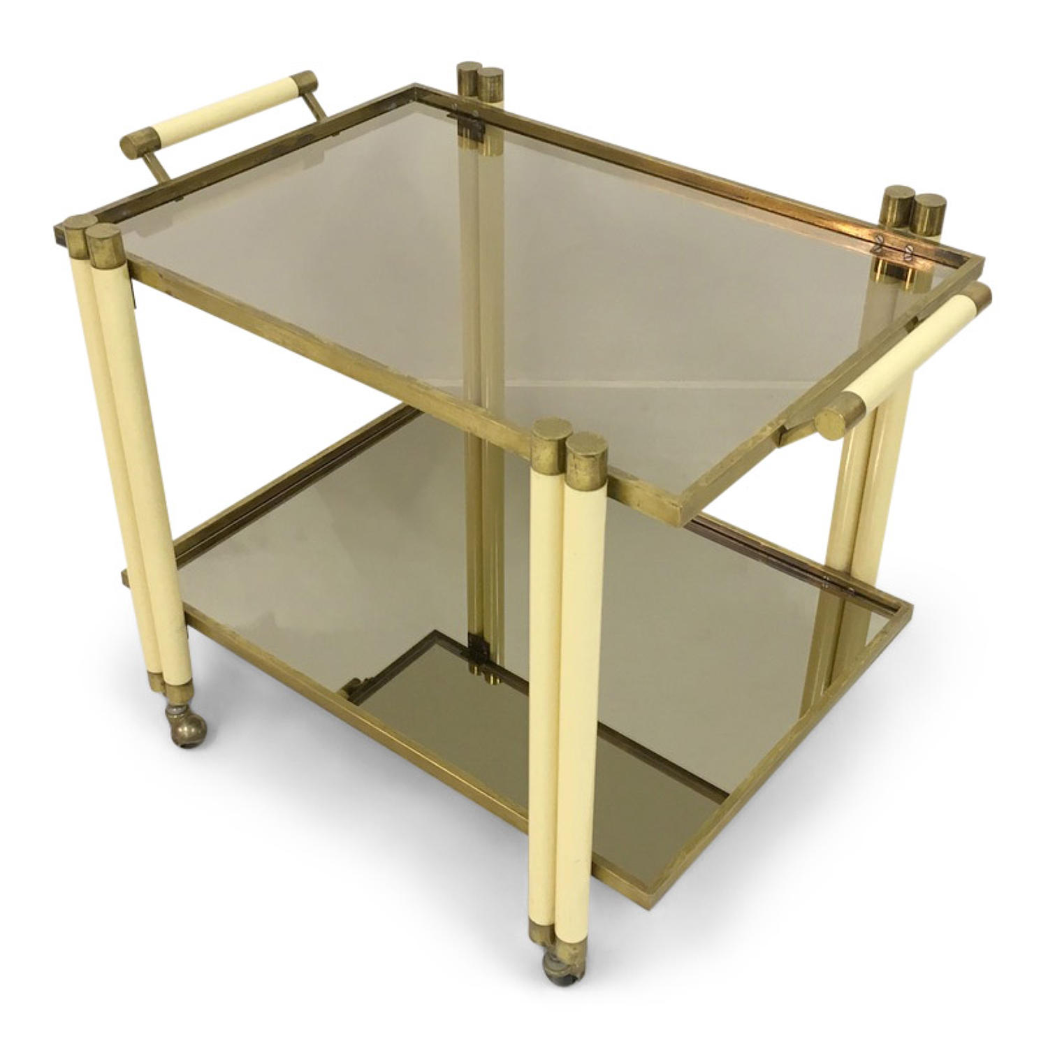 1970s brass trolley by Tomasso Barbi