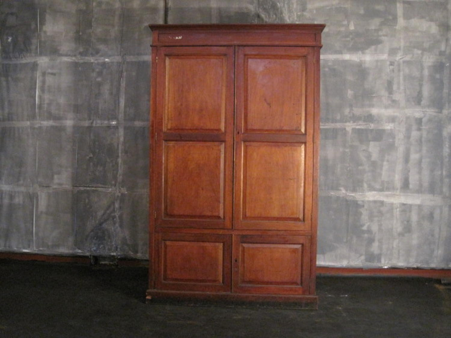 Vintage mahogany school or office cupboard