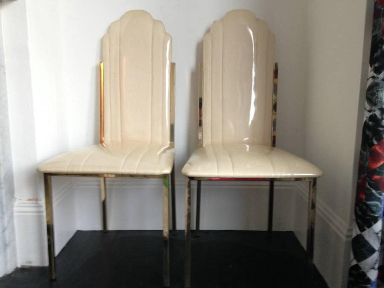 A pair of chairs by Alain Delon for Maison Jansen